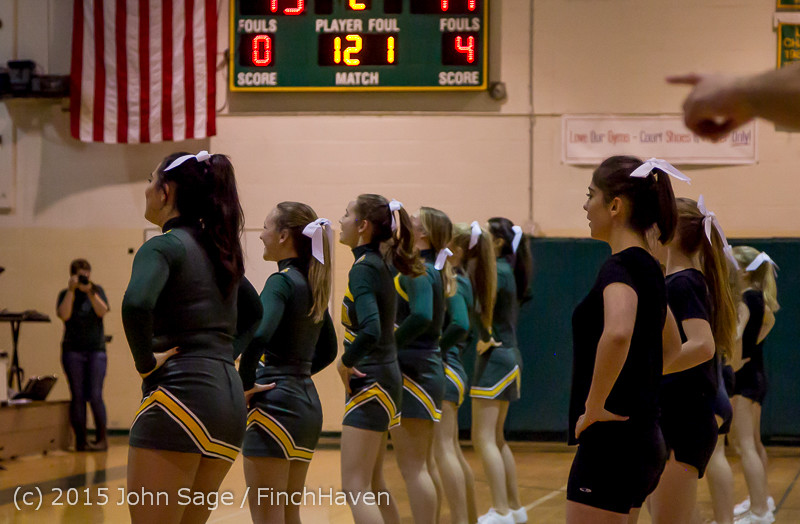 21488 VIHS Cheer-Band-Crowd at BBall v Seattle-Academy 121614