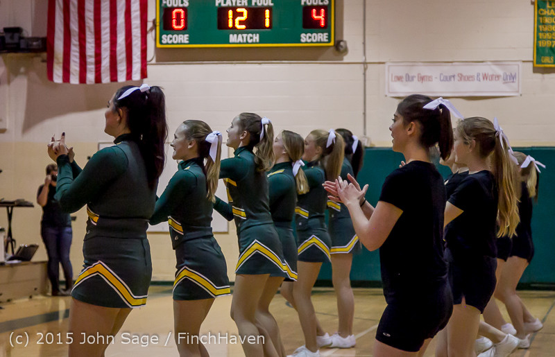 21497 VIHS Cheer-Band-Crowd at BBall v Seattle-Academy 121614
