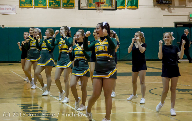 21871 VIHS Cheer-Band-Crowd at BBall v Seattle-Academy 121614