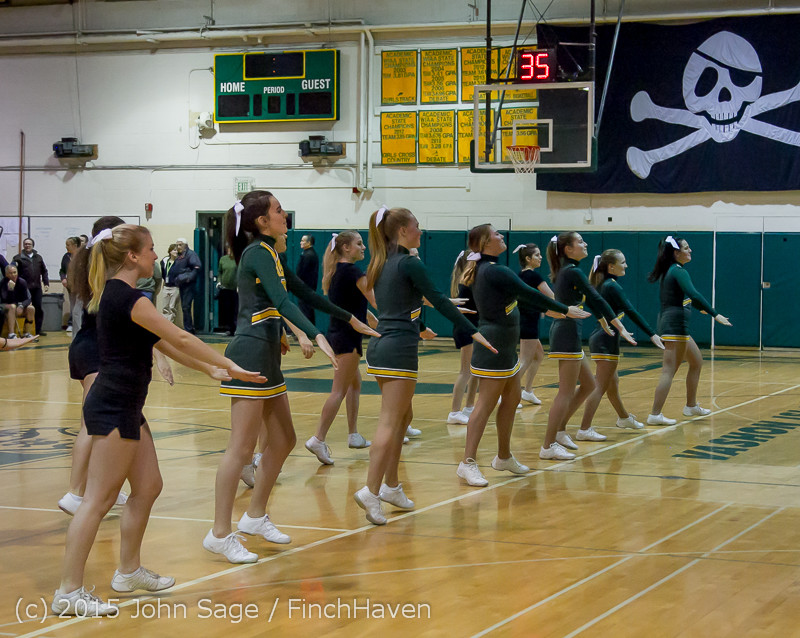22758 VIHS Cheer-Band-Crowd at BBall v Seattle-Academy 121614