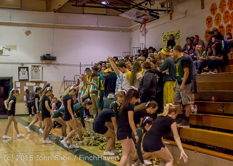 22798 VIHS Cheer-Band-Crowd at BBall v Seattle-Academy 121614