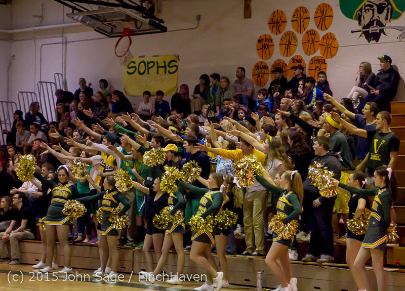 23055 VIHS Cheer-Band-Crowd at BBall v Seattle-Academy 121614