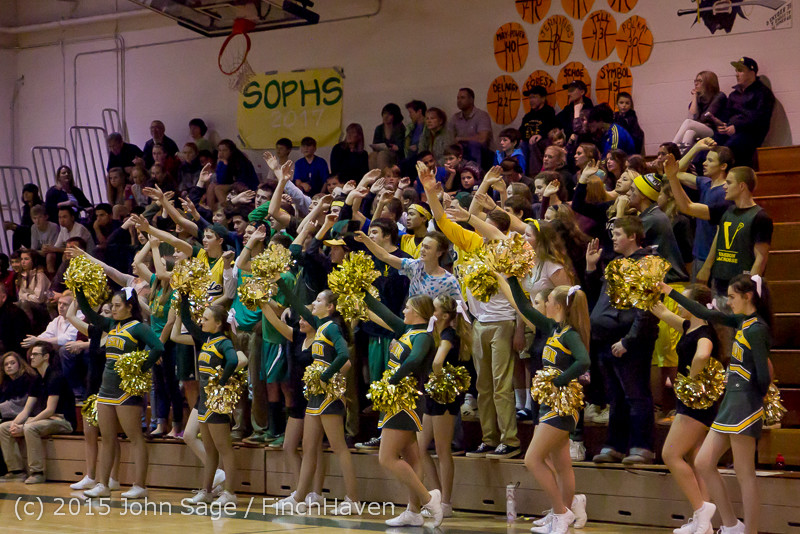 23072 VIHS Cheer-Band-Crowd at BBall v Seattle-Academy 121614
