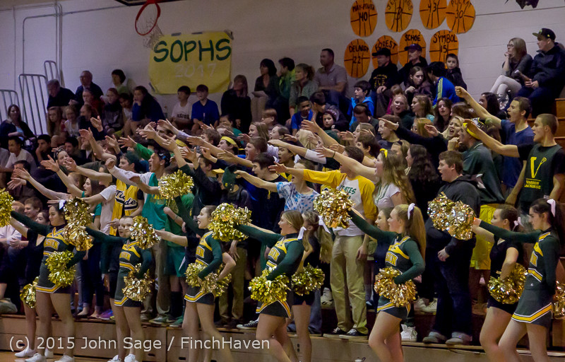 23081 VIHS Cheer-Band-Crowd at BBall v Seattle-Academy 121614