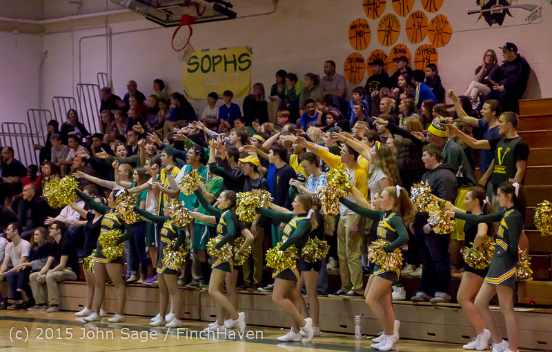 23094 VIHS Cheer-Band-Crowd at BBall v Seattle-Academy 121614