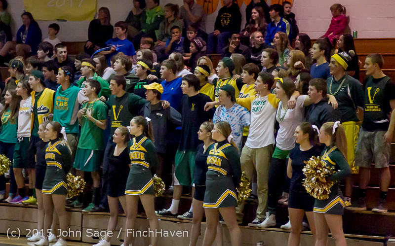 23328 VIHS Cheer-Band-Crowd at BBall v Seattle-Academy 121614
