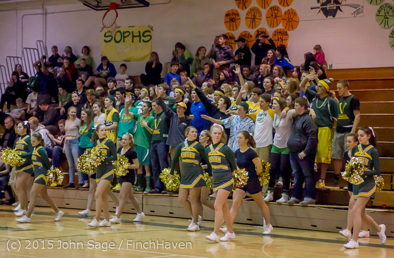 23337 VIHS Cheer-Band-Crowd at BBall v Seattle-Academy 121614