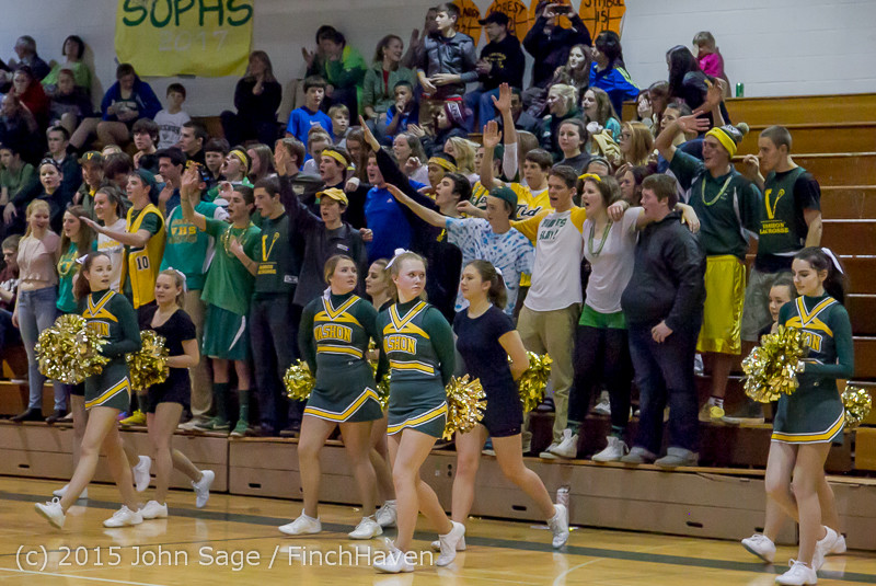 23338 VIHS Cheer-Band-Crowd at BBall v Seattle-Academy 121614