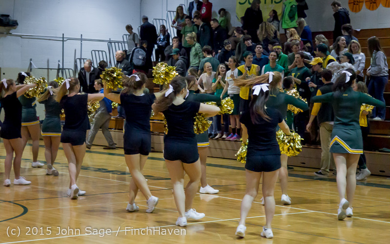 23440 VIHS Cheer-Band-Crowd at BBall v Seattle-Academy 121614