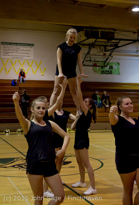 4545 VIHS Winter Cheer at Girls BBall v Port Angeles 120914