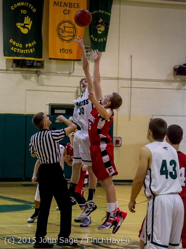 0153 Boys JV Basketball v Crosspoint 122115