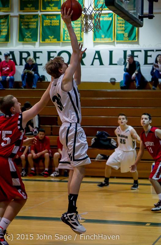 0161 Boys JV Basketball v Crosspoint 122115