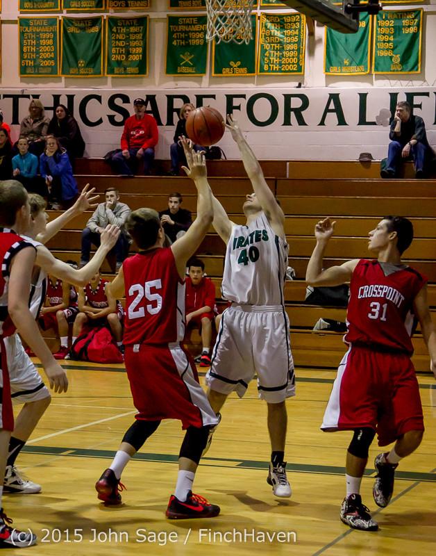 0188 Boys JV Basketball v Crosspoint 122115