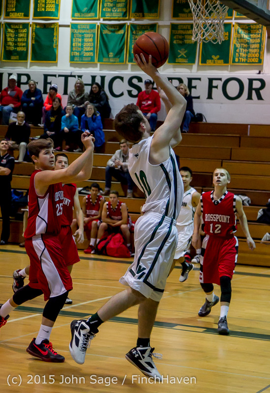 0215 Boys JV Basketball v Crosspoint 122115