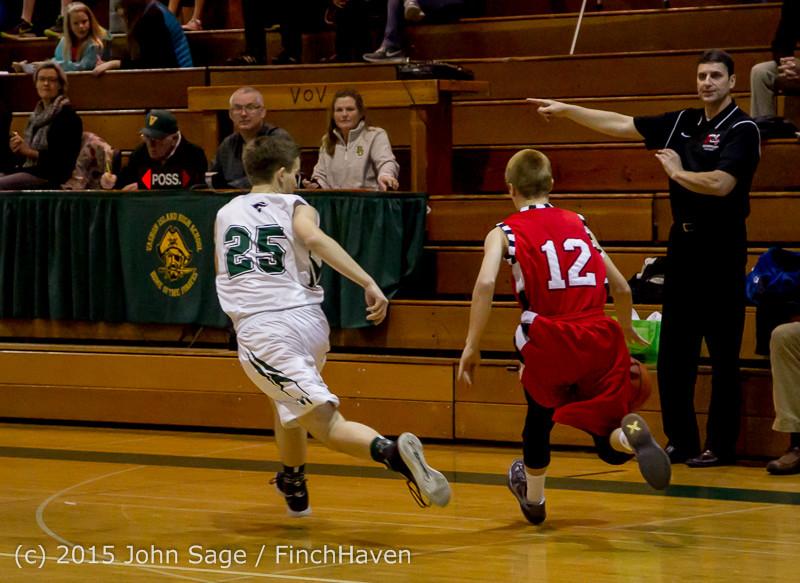0232 Boys JV Basketball v Crosspoint 122115