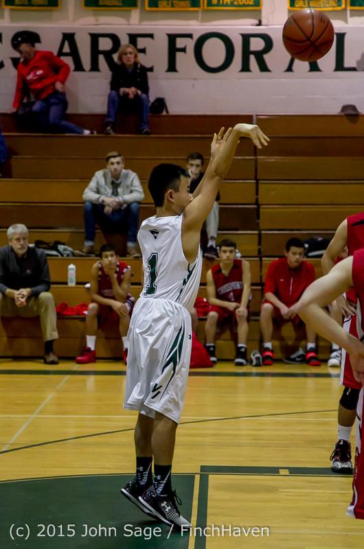 0253 Boys JV Basketball v Crosspoint 122115