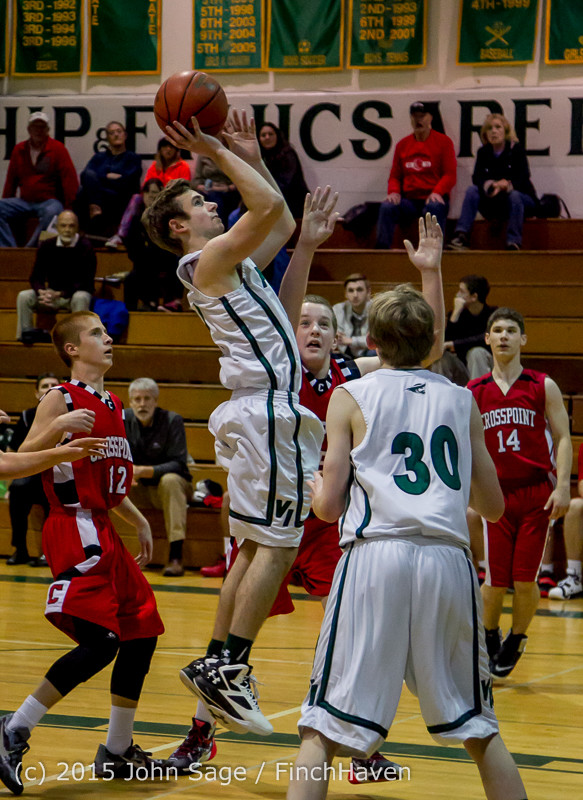 0268 Boys JV Basketball v Crosspoint 122115