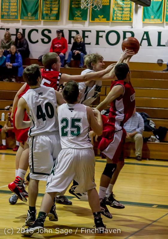0291 Boys JV Basketball v Crosspoint 122115