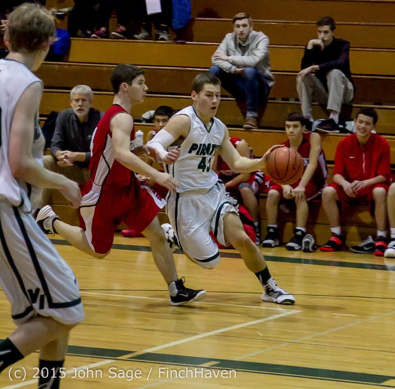 0302 Boys JV Basketball v Crosspoint 122115