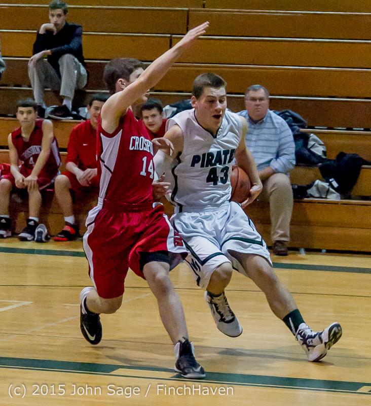 0306 Boys JV Basketball v Crosspoint 122115