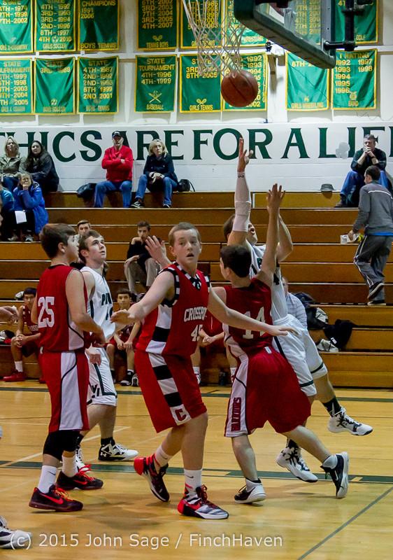 0312 Boys JV Basketball v Crosspoint 122115