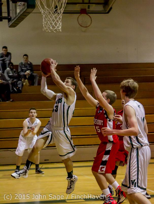 0349 Boys JV Basketball v Crosspoint 122115