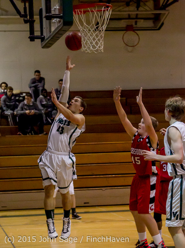 0350 Boys JV Basketball v Crosspoint 122115