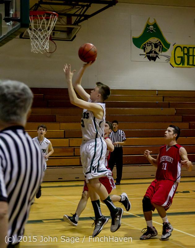 0363 Boys JV Basketball v Crosspoint 122115