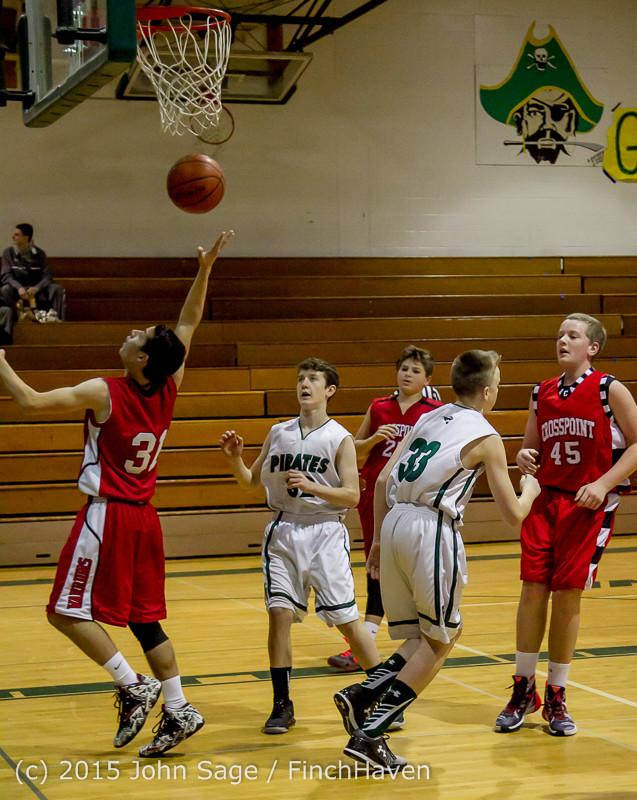 0374 Boys JV Basketball v Crosspoint 122115