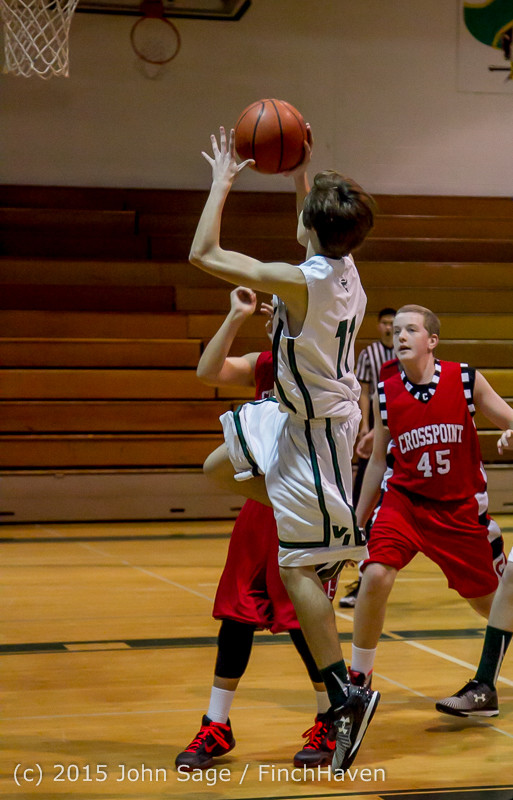0379 Boys JV Basketball v Crosspoint 122115