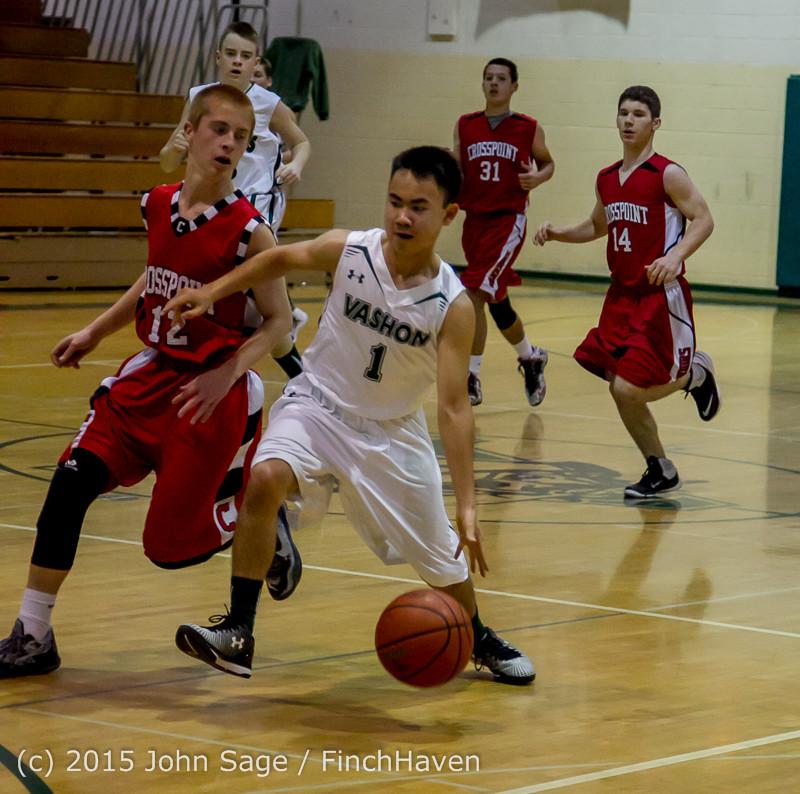 0389 Boys JV Basketball v Crosspoint 122115