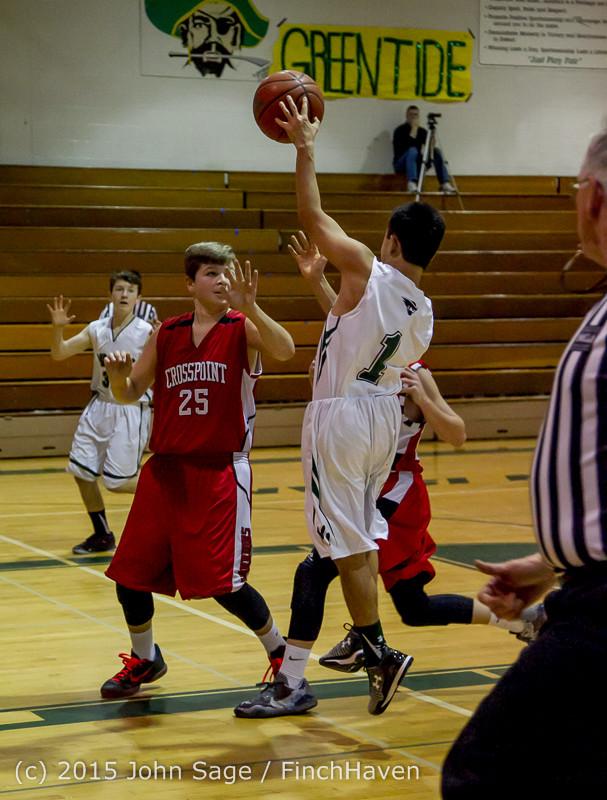 0396 Boys JV Basketball v Crosspoint 122115