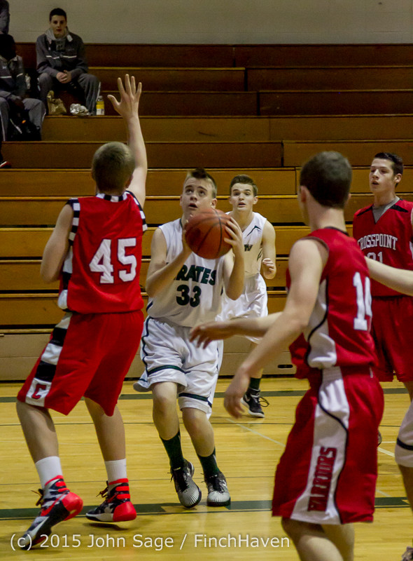 0451 Boys JV Basketball v Crosspoint 122115