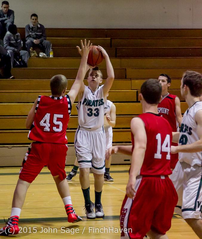 0452 Boys JV Basketball v Crosspoint 122115