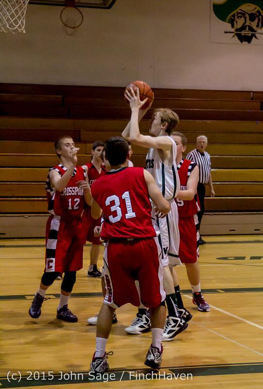 0486 Boys JV Basketball v Crosspoint 122115