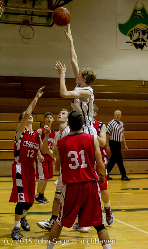 0488 Boys JV Basketball v Crosspoint 122115