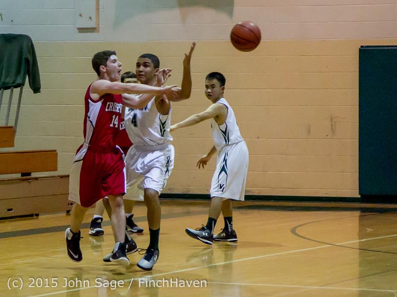 0513 Boys JV Basketball v Crosspoint 122115