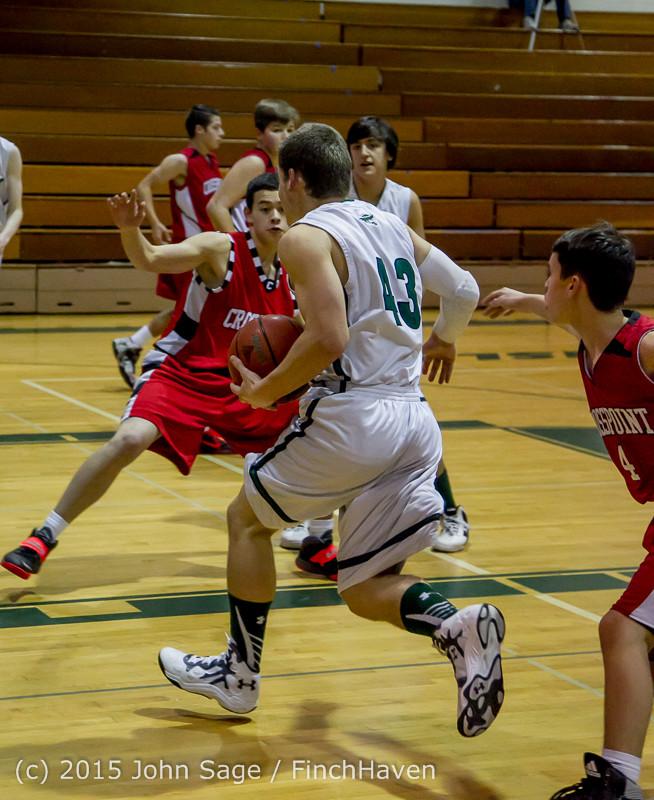 0538 Boys JV Basketball v Crosspoint 122115
