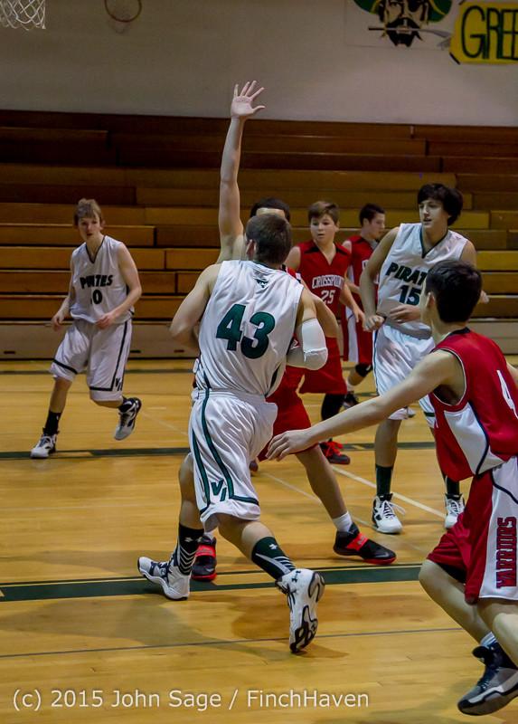 0540 Boys JV Basketball v Crosspoint 122115