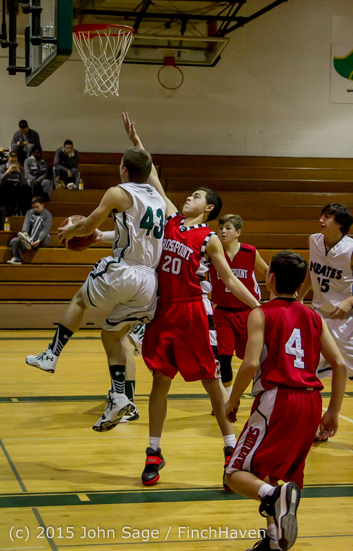 0543 Boys JV Basketball v Crosspoint 122115