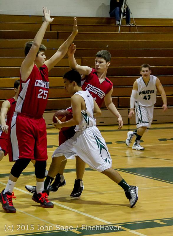 0640 Boys JV Basketball v Crosspoint 122115
