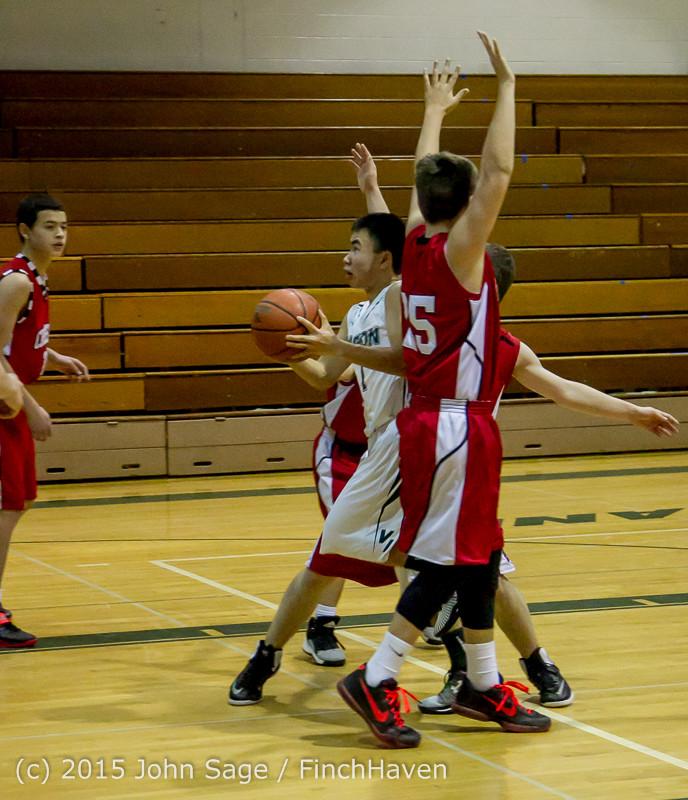 0642 Boys JV Basketball v Crosspoint 122115