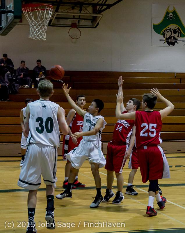 0645 Boys JV Basketball v Crosspoint 122115