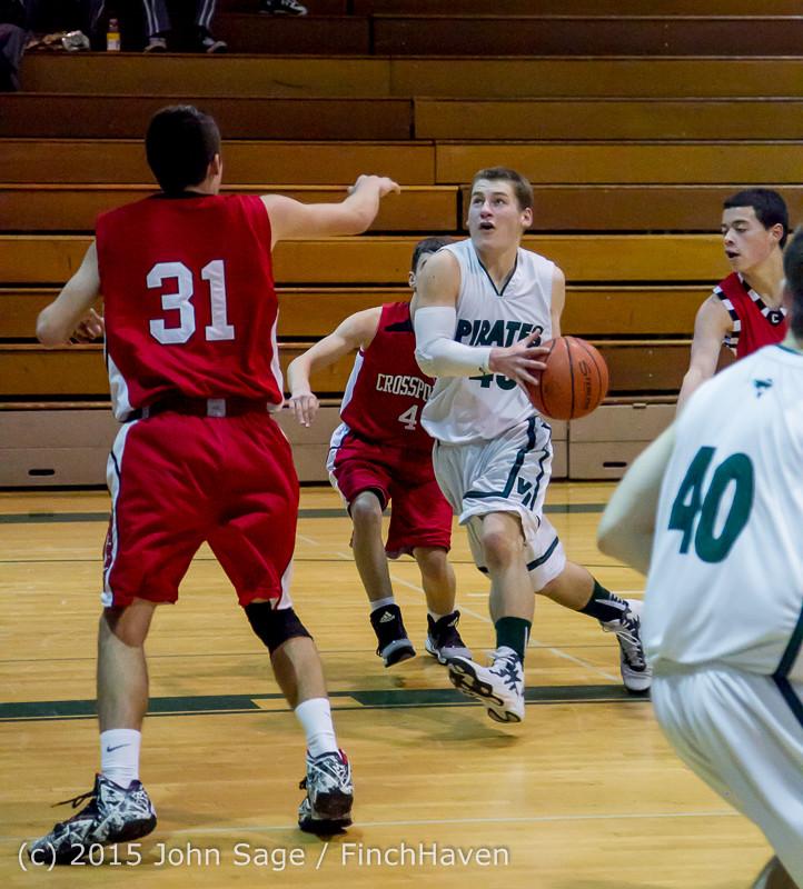0679 Boys JV Basketball v Crosspoint 122115