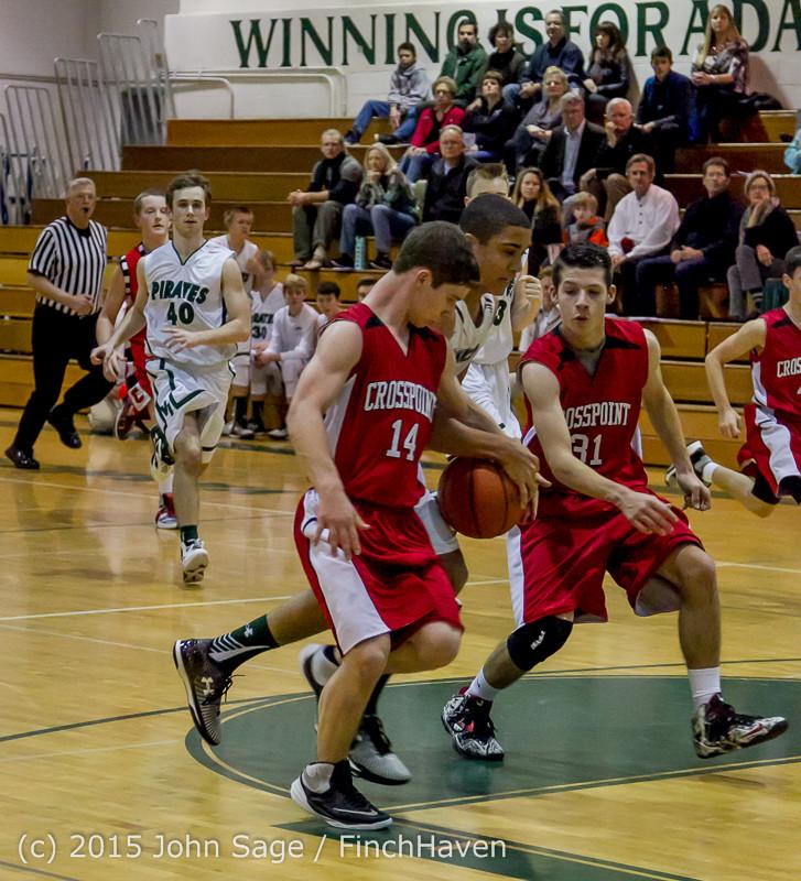 0722 Boys JV Basketball v Crosspoint 122115