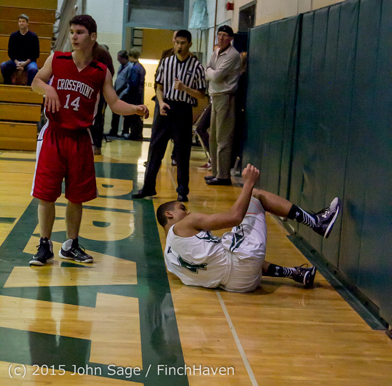 0741 Boys JV Basketball v Crosspoint 122115