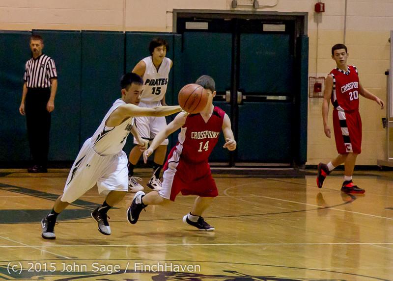 0787 Boys JV Basketball v Crosspoint 122115