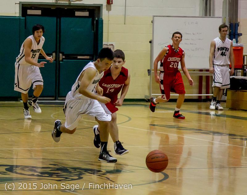 0791 Boys JV Basketball v Crosspoint 122115