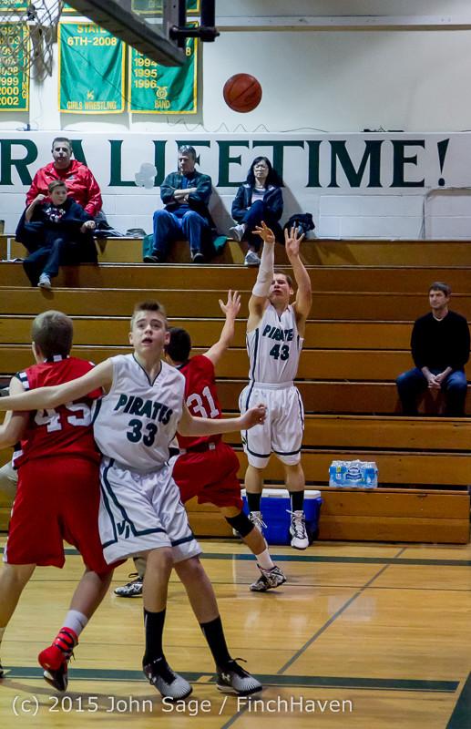 0863 Boys JV Basketball v Crosspoint 122115