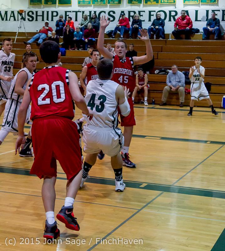 0913 Boys JV Basketball v Crosspoint 122115